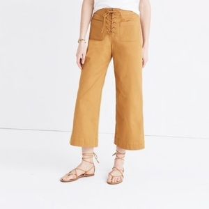 Madewell lace up wide leg pants